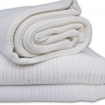 White Cotton cellular blanket
